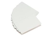 Plastikkarten weiß mit Unterschriftenfeld