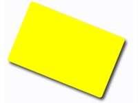 Plastikkarten gelb 0,76mm