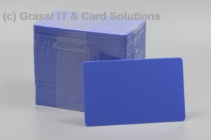 Plastikkarten blau 0,76mm