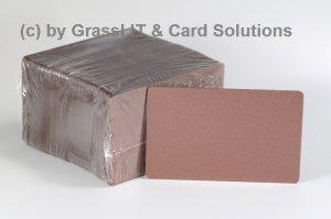 Plastikkarten bronze/kupfer 0,76mm