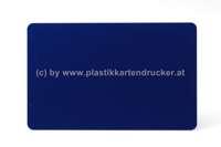 Plastikkarten dunkelblau 0,76mm