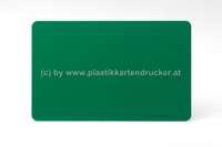 Plastikkarten dunkelgrün 0,76mm