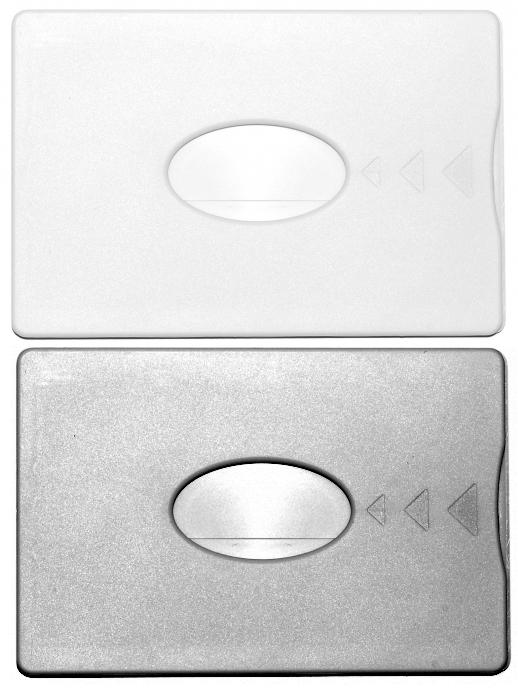 Kartenhülle RFID-Schutz weiß