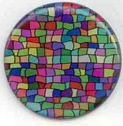 3D-Gel Aufkleber rund 40mm Durchmesser - 50 Stk. Pkg.
