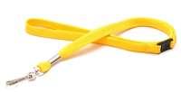 Lanyard 12mm gelb 25 Stk. Polyester mit Click