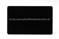 Plastikkarten schwarz 0,76mm matt (Lebensmittelzertifiziert)