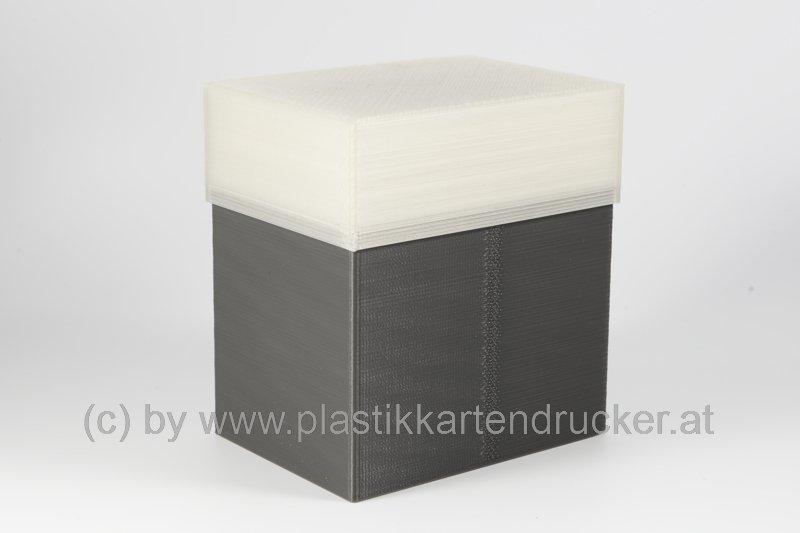 Kartenbox für 100 Karten grau