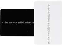 Plastikkarten schwarz/weiß 0,76mm