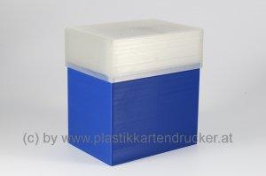 Kartenbox für 100 Karten blau
