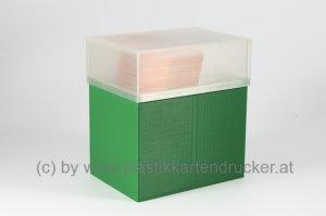Kartenbox für 100 Karten grün
