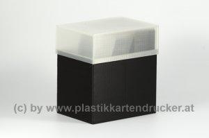 Kartenbox für 100 Karten schwarz