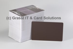 Plastikkarten braun 0,76mm