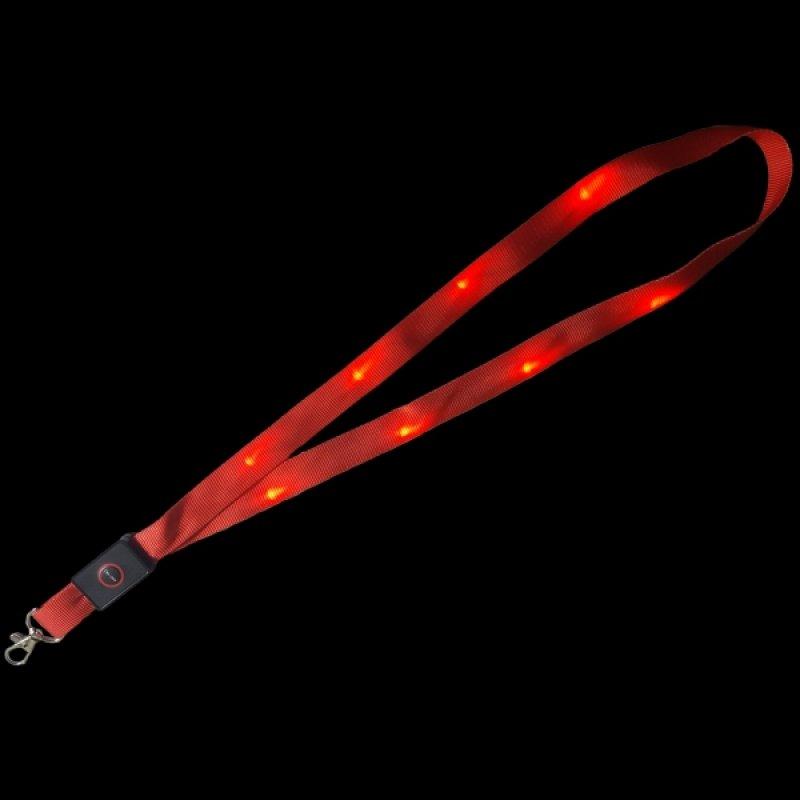 Lanyard rot mit LED-Beleuchtung