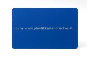 Plastikkarten royalblau 0,76mm