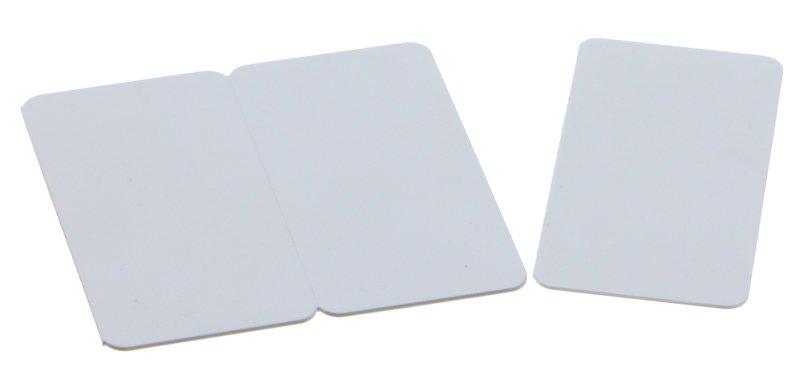 Plastikkarten weiß 0,76mm 3-geteilt