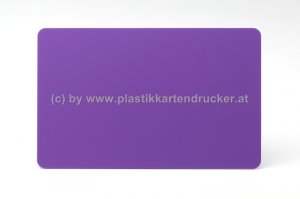 Plastikkarten violett 0,76mm