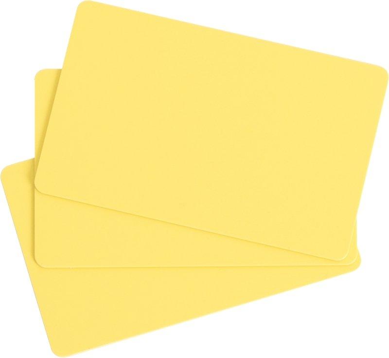 Plastikkarten gelb 0,76mm  (Lebensmittelzertifiziert)