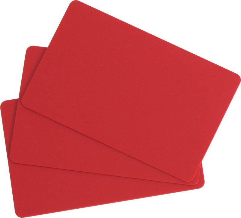 Plastikkarten rot 0,76mm  (Lebensmittelzertifiziert)