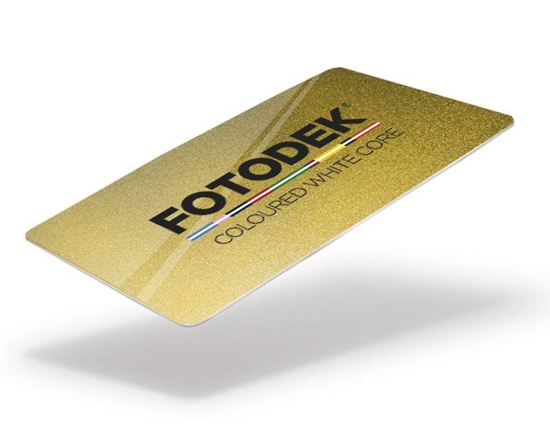 Plastikkarte gold glitzernd 100 Stk.