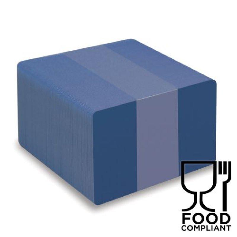 Plastikkarten royalblau 0,76mm  (Lebensmittelzertifiziert)