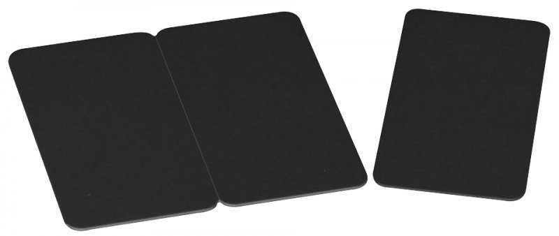Plastikkarten schwarz 0,76mm 3-geteilt