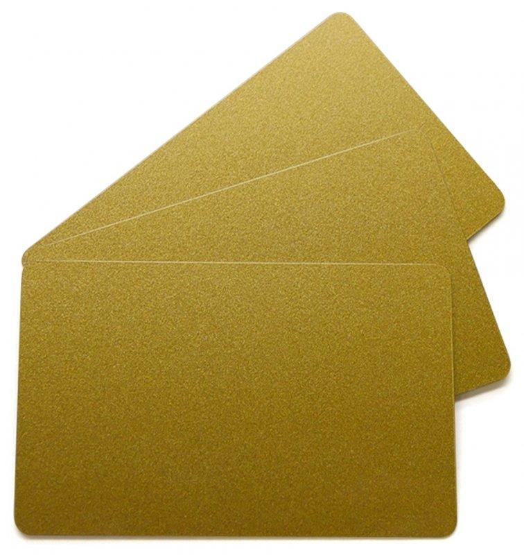 Plastikkarten gold 0,76mm  (Lebensmittelzertifiziert)