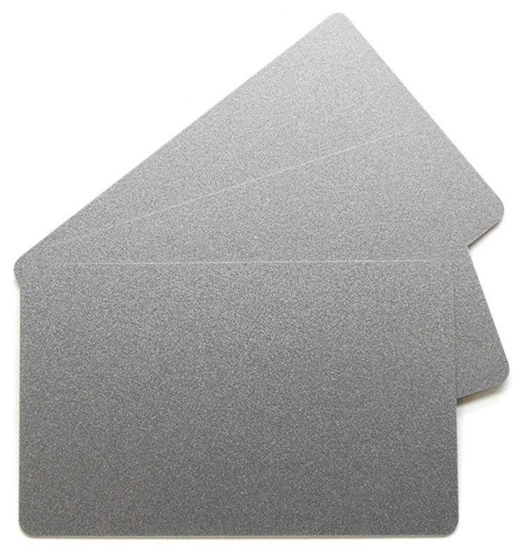 Plastikkarten silber 0,76mm  (Lebensmittelzertifiziert)
